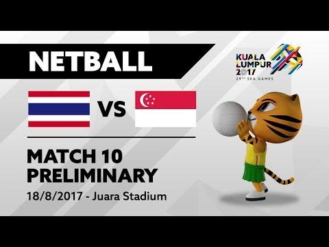 KL2017 29th SEA Games   Netball - THA 🇹🇭 vs SGP 🇸🇬