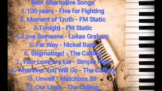 Best Alternative Rock song - Five for Fighting, FM Static, Nickel Back, Matchbox 20,The Calling