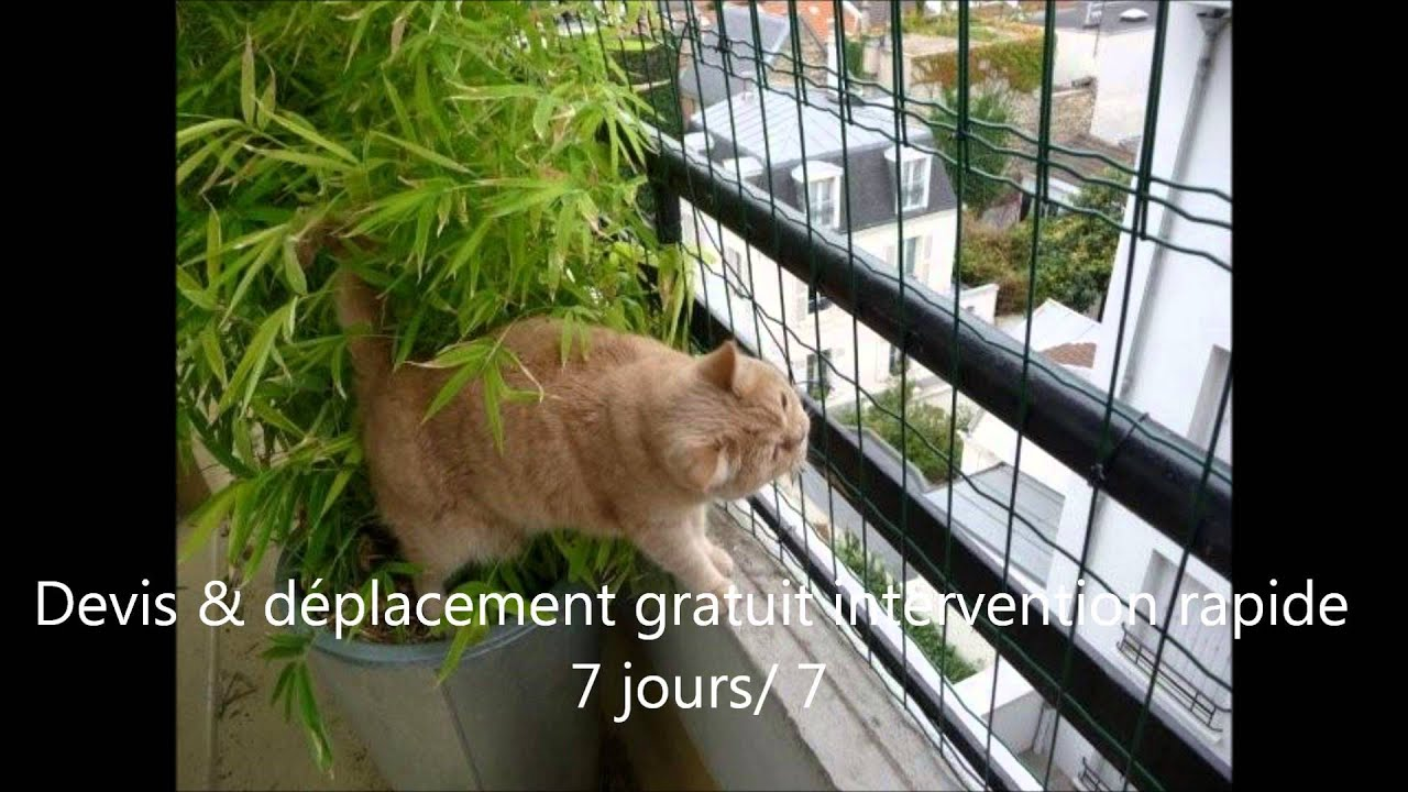 Filet de securite pour chat balcon fenetres youtube for Grille metallique pour fenetre