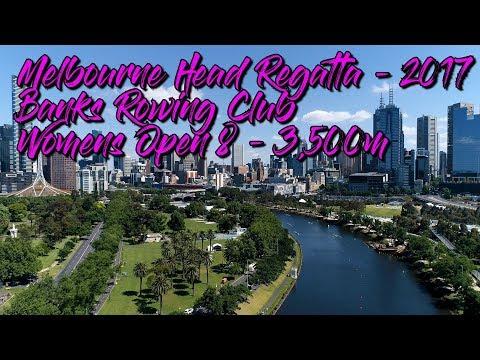 Melbourne Head Regatta 2017 - Banks Rowing - Womens Open Eight - 3,500m final - in 4K