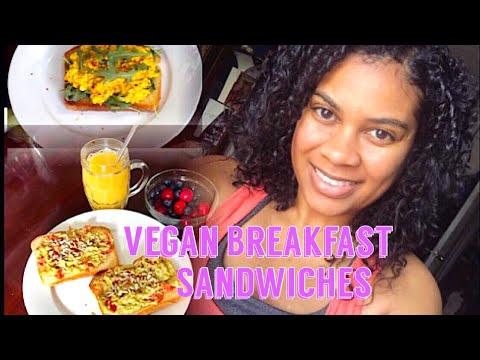 VEGAN Breakfast Food SLAMMIN 'EGG' Sandwich