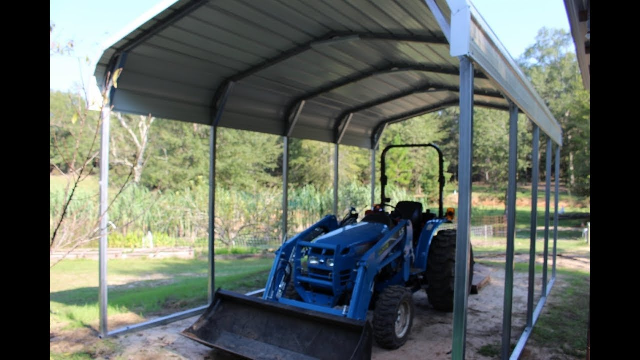 Tractor Shed In 30 Minutes Youtube