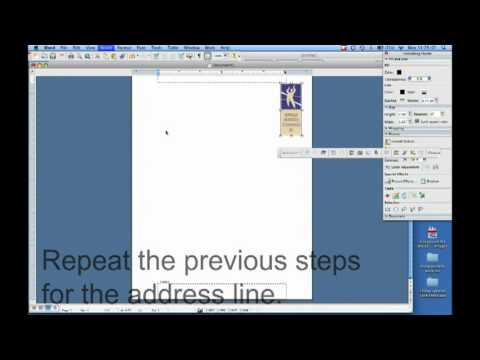 How to create a letterhead in Microsoft Word - YouTube