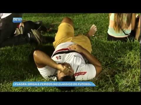 Confusão em jogo de futebol deixa feridos na Ilha do Retiro (PE)