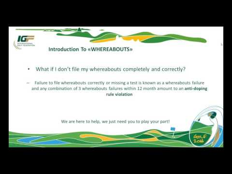 2016 02 09 Athlete Whereabouts Webinar full recording