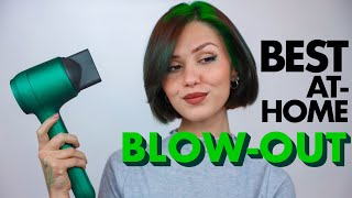 BEST AT-HOME BLOW-OUT *short hair edition*   Muttus Hairdryer