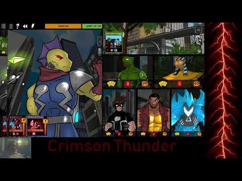 Let's Play Sentinels of the Multiverse Crimson vs Deadline Challenge |
