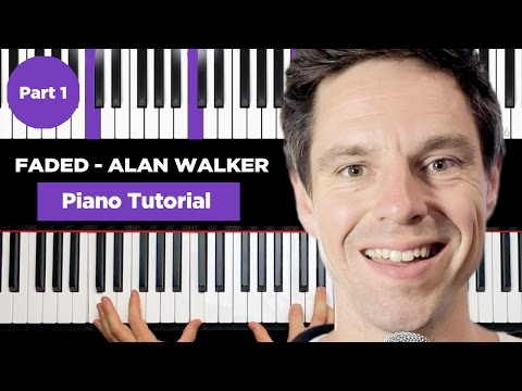 Alan Walker - FADED - Piano Tutorial for Beginner - Part 1