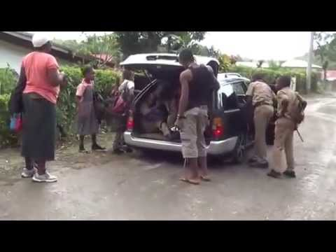 Overloaded Taxi in Jamaica
