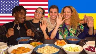 Американцы пробуют Украинскую еду: борщ, вареники, голубцы, холодец, квас и другое