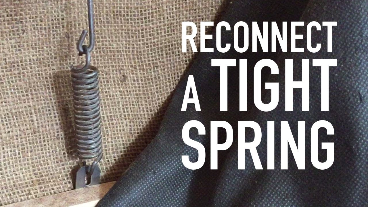 How To Stretch A Tight Spring Tension Spring Youtube