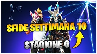 FORTNITE: SFIDE PASS WEEK 10 SEASON 6 COMPLETE IN ENGLISH [IN ANTEPRIMA]