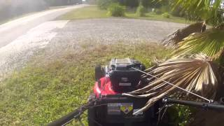 Mowing Grass with Snapper 725ex Series Gas Front Wheel Drive Lawn Mower