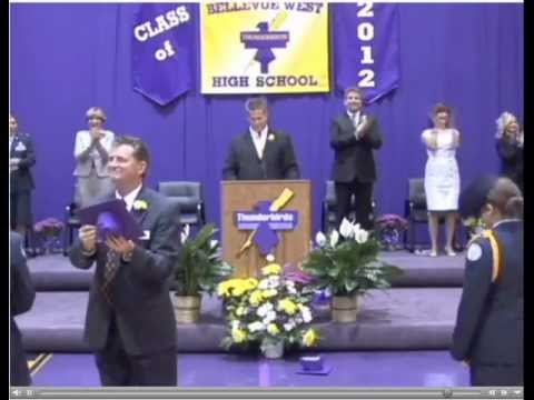 Jordan Freeman - Bellevue West Senior High School Graduation - 5-12-12