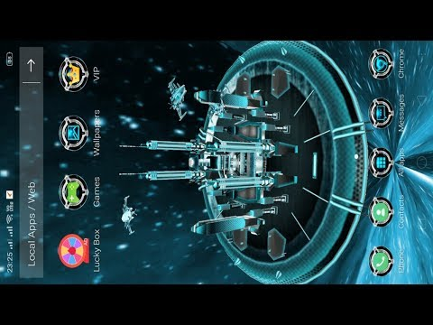 New 3D Launcher For Android || Best 3D Space Galaxy Theme || New Launcher