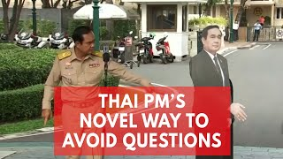 'Ask this guy': Thai PM leaves cardboard cutout of himself to avoid questions from press
