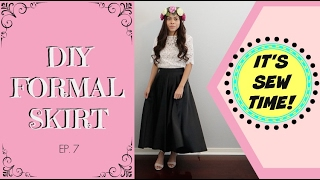 DIY FORMAL SKIRT, BEGINNER SEWING PROJECT