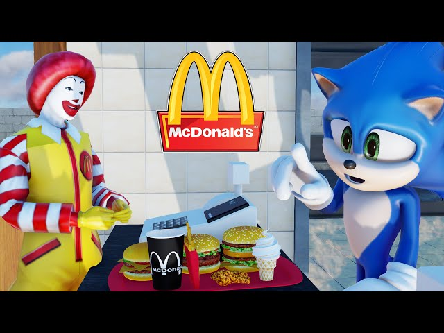SONIC try MCDONALDS for the First Time