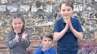 video: Prince George, Charlotte and Louis join Royal Family in national #ClapForOurCarers