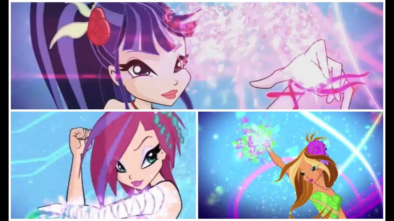 Winx Club Sirenix 2D Musa,Flora And Tecna - YouTube
