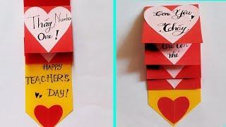 Cách làm thiệp 20-11 đơn giản và đẹp nhất | Handmade Teacher's Day Card Easy