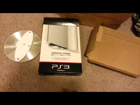 ps3-super-slim-vertical-stand-white-&-silver-color-(unboxing)