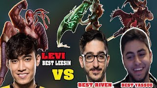 Levi stream | Khi Best Leesin Levi đối đầu Best Yassuo vs Best Riven Bắc Mĩ và Cái kết!