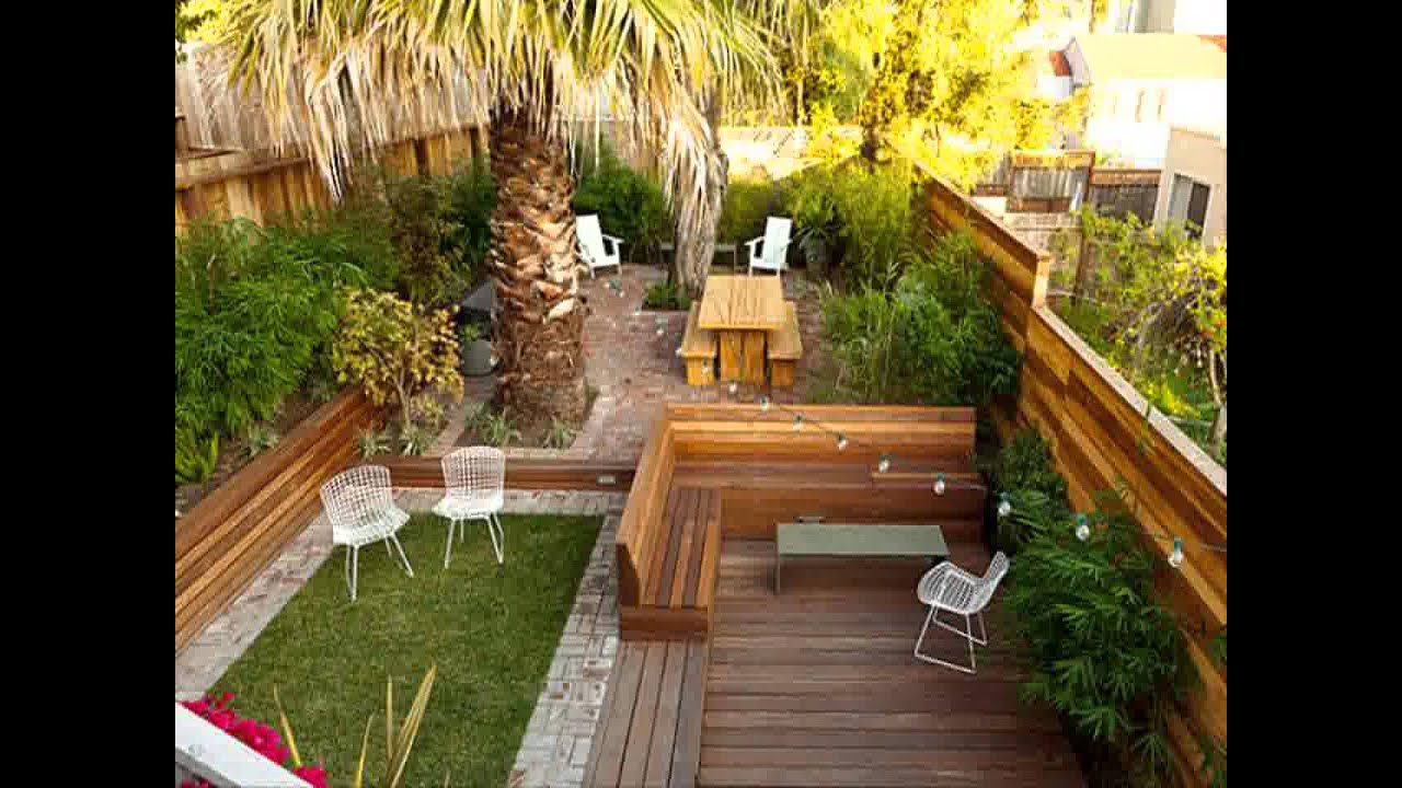 Sloped Backyard Design Ideas small home backyard garden design ideas - youtube