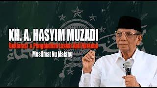 KH. Hasyim Muzadi : Deklarasi Dan Pengukuhan Laskar Anti Narkoba