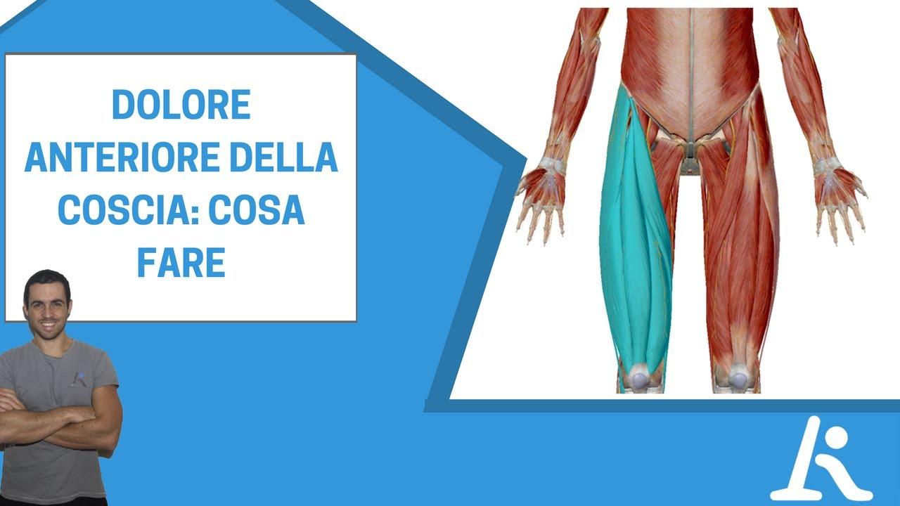 Dolore anteriore della coscia: possibili cause, soluzioni ed esercizi specifici