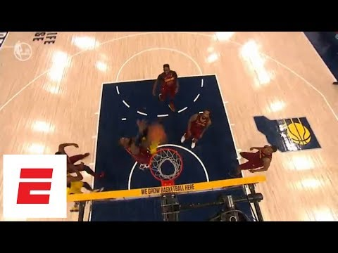 Victor Oladipo puts LeBron James on a poster during Pacers' Game 6 blowout of Cavaliers | ESPN