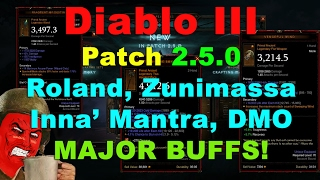 diablo iii ptr 2 5 0 zunimassa roland inna dmo major buffs eq buff