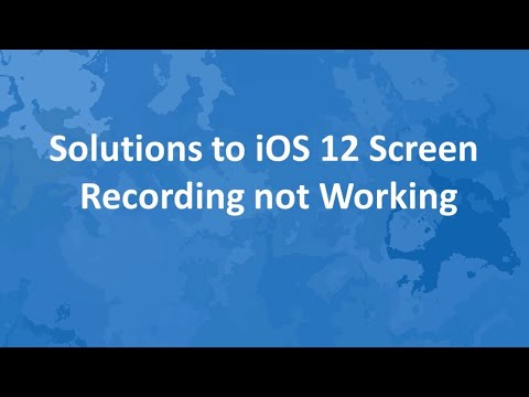 How to fix Screen Recording Issue in iOS 12