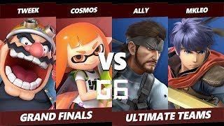 Glitch 6 SSBU - Ally & MKLeo VS Tweek & Cosmos - Smash Ultimate Teams Grand Finals