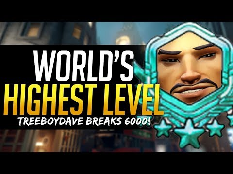 Overwatch WORLD'S HIGHEST LEVEL PLAYER - OVER 6000! How he does it! TreeBoyDave
