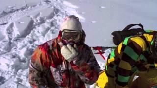 Нарезка ошеломляюще прыжки с сноуборда