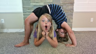 Family Gymnastics Challenge! Kids vs Parents