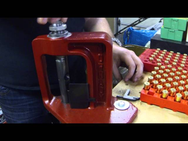 Loading Cheap .44 Magnum Plinking Ammunition. Complete Tutorial Reloading Process in HD