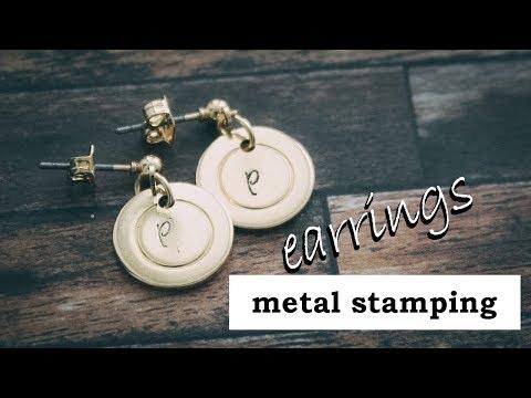 DIY Letter Earrings CUSTOMISABLE || ImpressArt Metal Stamping Tutorial