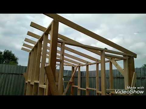 Как построить деревянный сарай