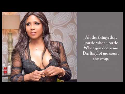 How Many Ways - Toni Braxton - (Lyrics)