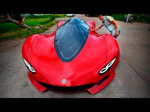 Пацан сделал суперкар из мусора! Самодельные автомобили и авто самоделки - лучшие автомобили