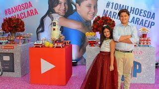 FESTA DE 10 MILHÕES DA MARIA CLARA E JP 🎬 10 Million subscribers! Party for Maria Clara & JP