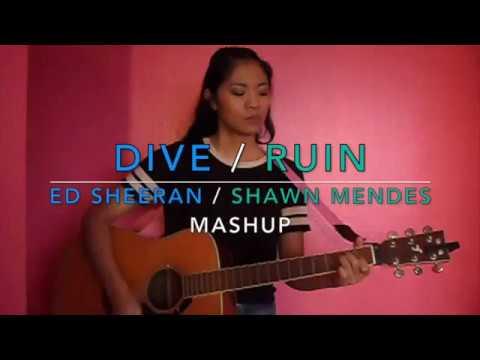 Dive ruin by ed sheeran shawn mendes mashup guitar - Ed sheeran dive chords ...