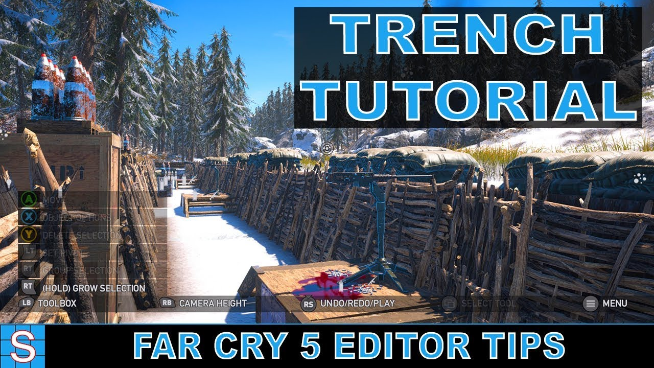 Trench Tutorial Fast Easy Far Cry 5 Map Editor Youtube