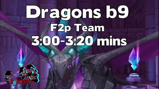 summoners war dragons b9 farmable fusable team 3 00 3 20mins run