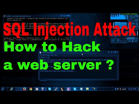 sql injection attack with sqlmap | hacking web server | hacking php | hacking website with sql injec