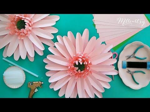 Diy Tutoriel Fleur En Papier Marguerite Diy Daisy Paper Flower