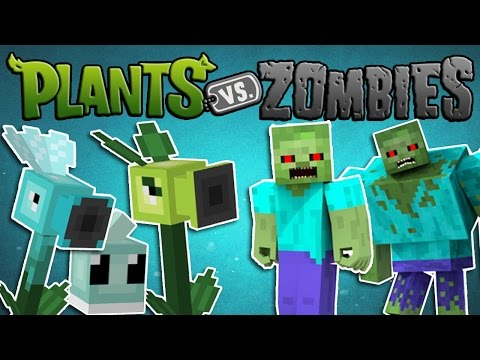 Minecraft Mods - PLANTS VS ZOMBIES - Plants and Zombies!! (Plants vs Zombies Minecraft Mod Showcase)