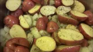 Simple Red Potatoes Oven Roasted with Rosemary and Garlic